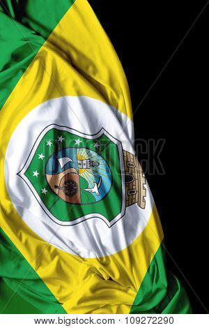 Ceara waving flag on black background