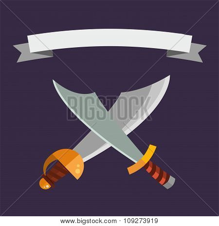 Knifes weapon vector collection