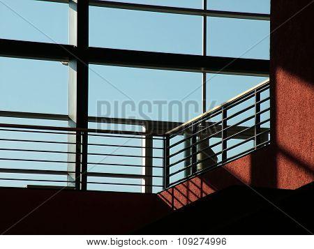 Big windows on a modern glass wall building