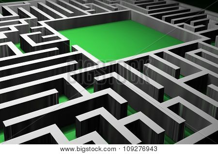 Abstract 3D maze render,  Labyrinth concept.