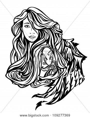 Angel Girl Portrait