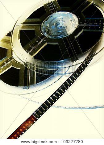 Film reels. Movie concept