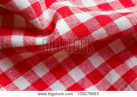 Red picnic cloth background