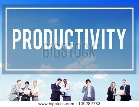 Productivity Production Capacity Efficiency Concept poster