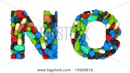 Medication Font N And O Pills Letters