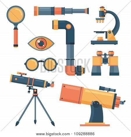 Optical tools collection isolated