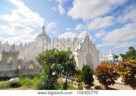 White Pagoda Of Hsinbyume (myatheindan) Paya Temple In Mandala
