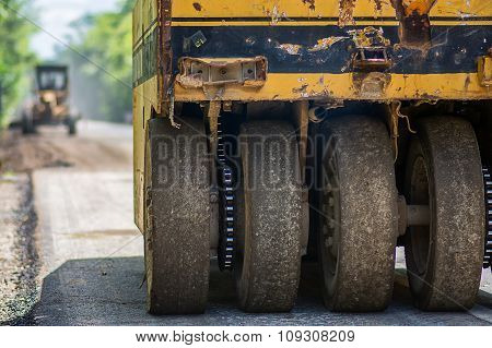 A Pneumatic Tyred Roller