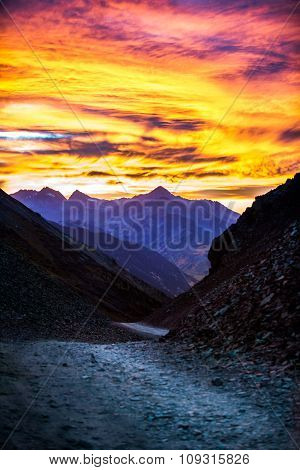 Ophir Pass After Sunset