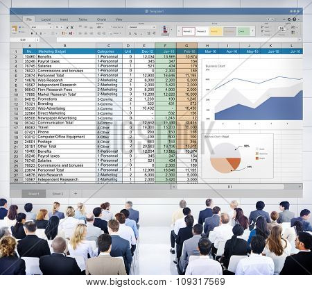 Financial Planning Accounting Report Spreadsheet Concept