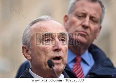 NYPD commissioner Bratton with mayor