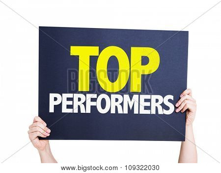 Top Performers placard isolated on white