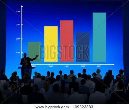 Business Conference People Data Graph Chart Presentation Ideas Cocnept