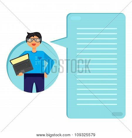 Employee With Notebook
