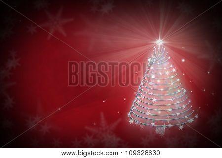 Magic Chritmas Tree Background Illustration