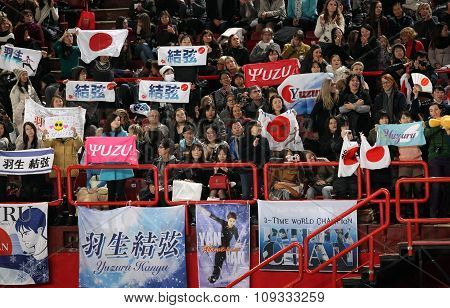 Crowd Cheers Skaters At Isu Grand Prix
