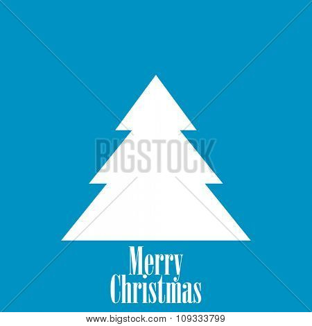 Vintage Blue Christmas Card