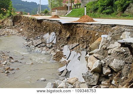 Road After Flooding