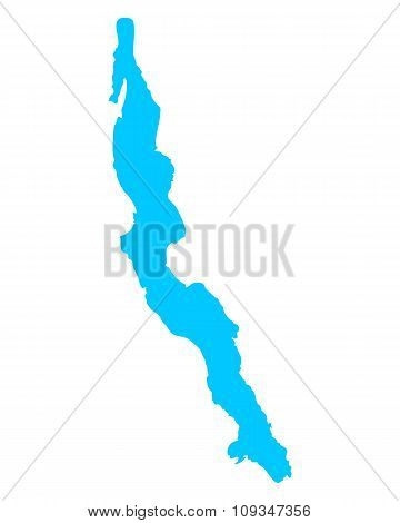 Map Of Lake Tanganyika