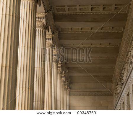 Vintage Columns Architecture Of Ancient Greek Temple