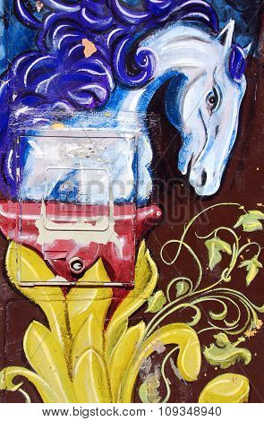Street art horse