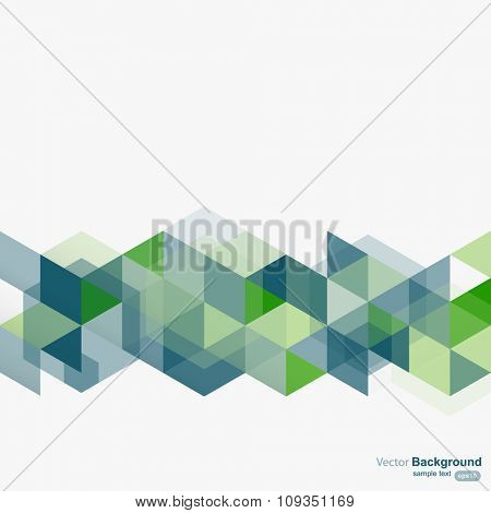 Abstract geometrical design background, vector