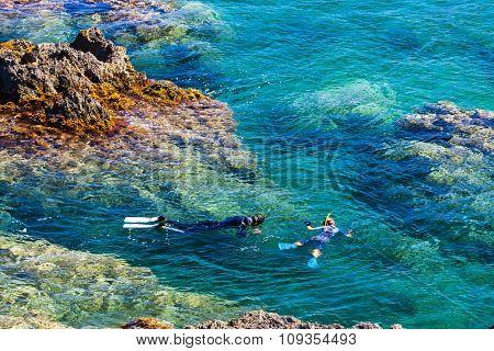 snorkeling, Cap de Peyrefite, Languedoc-Roussillon, France
