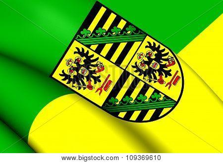Flag Of Saalfeld-rudolstadt, Germany.