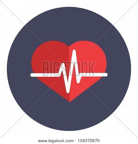 Heartbeat icon concept vector