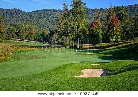 Golf Green Autumn Colors