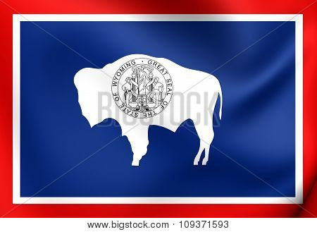 Flag Of Wyoming, Usa.