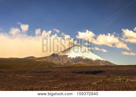 Cotopaxi Volcano, Part Of The  Volcanoes Chain
