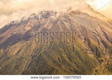 Large Plume Of Ash And Steam From The Tungurahua