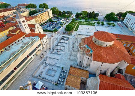 Zadar Forum Square Ancient Architecture View
