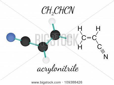CH2CHCN acrylonitrile molecule