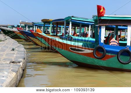 Colourful Boats - Hoi An Vietnam