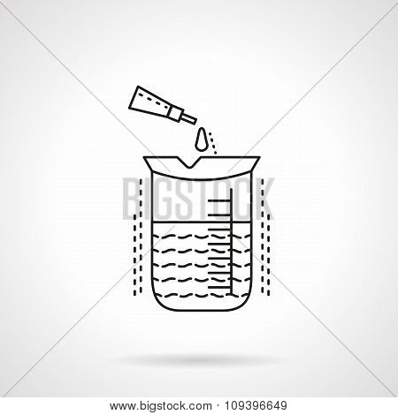 Chemical analysis flat line vector icon