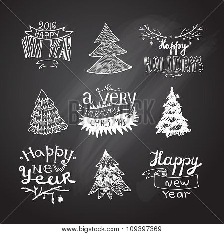 sketches Christmas trees