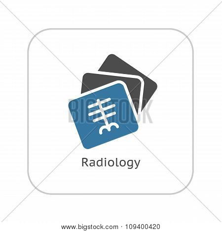 Radiology and Medical Services Icon. Flat Design.