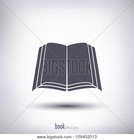 Open Book Silhouette