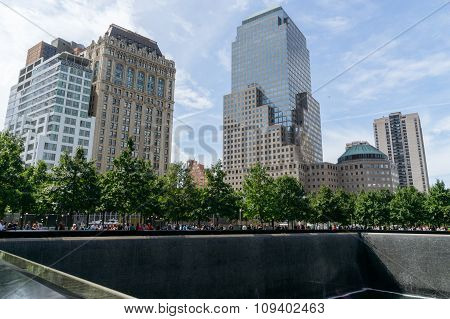 People Near Freedom Tower And 9/11 Memorial