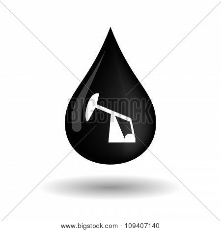 Vector Oil Drop Icon With A Horsehead Pump