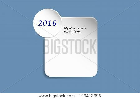 White Rectangle For New Year Resolution