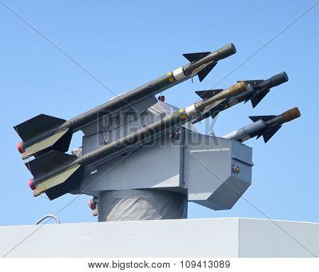Sea chaparral missile closeup