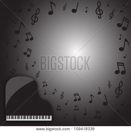 Grand Piano Dark Musical Background