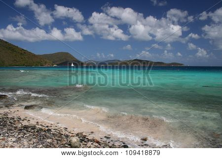 Ground level beach view St John