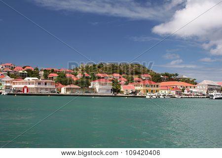 St Barts harbor panorama
