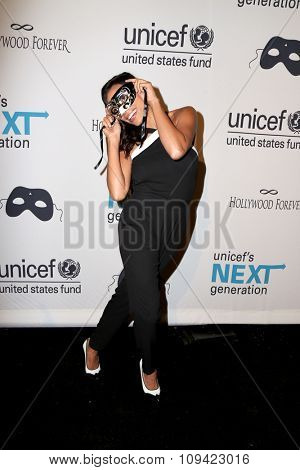 LOS ANGELES - OCT 30:  Rosario Dawson at the 2nd Annual UNICEF Masquerade Ball at the Hollywood Forever on October 30, 2014 in Los Angeles, CA