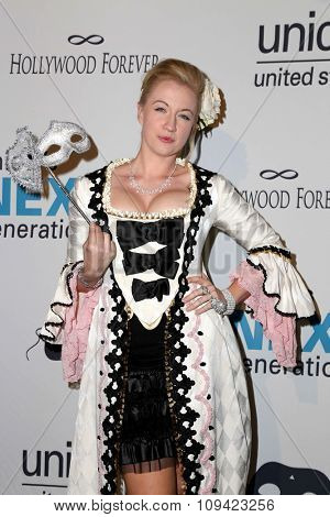 LOS ANGELES - OCT 30:  Laura Linda Bradley at the 2nd Annual UNICEF Masquerade Ball at the Hollywood Forever on October 30, 2014 in Los Angeles, CA