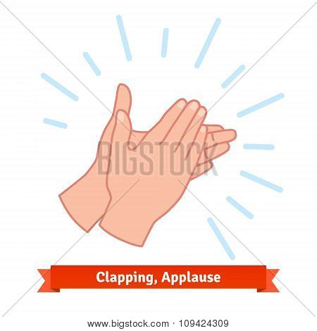 Illustration of clapping applauding hands